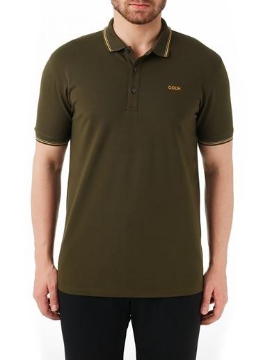 Hugo Boss  Pamuklu Slim Fit Polo T Shirt Erkek Polo 50448780 306 Haki